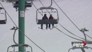 Boy falls off ski lift at Lake Louise