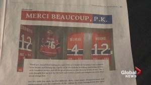 'Merci Beaucoup, P.K.'