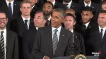 Obama welcomes LA Kings to White House for Cup win