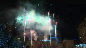 2016 New Year's Eve fireworks display over Winston Churchill Square