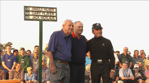 The Masters:  Palmer, Nicklaus and Player tee off to start The Masters