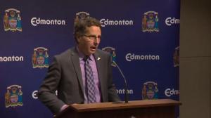 Raw video: City on North Saskatchewan River