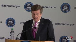 Mayor John Tory shares his fondest memories of the Argos