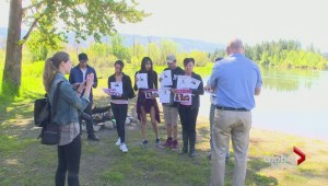 Families gather for walk to honour missing north Okanagan women