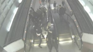 Security footage of teen assaulting  elderly man at Washington, D.C. metro station