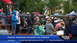 Rachel Notley attends Premier's Stampede Breakfast