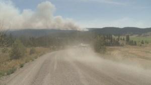 Fire grows near Clinton