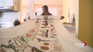 Calgary artist embroiders epic work of art: 'It's been so much a part of my life'