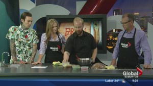 In the Global Edmonton kitchen with Farrow