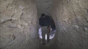 Underground tunnels used by ISIS and graves found in Sinjar