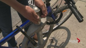 Old bike rings in Toronto an easy target for thieves