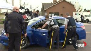 Moncton Manhunt: Behind the barricade
