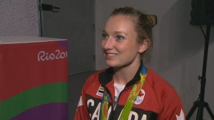 Canadian Rosie MacLennan captures gold medal in trampoline, 2nd for her career