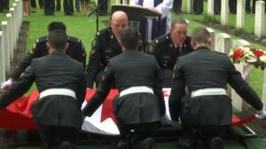 Canadian soldier given proper burial 70 years after death in WWII