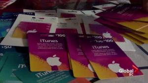 Canadians have lost millions in iTunes gift card scam
