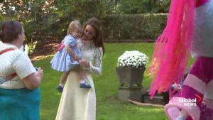 Princess Charlotte dances with her mom, Kate, at children's party in Victoria