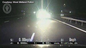 UK cops play chicken to stop car going in wrong direction