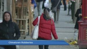 Purse snatcher targets Chinatown