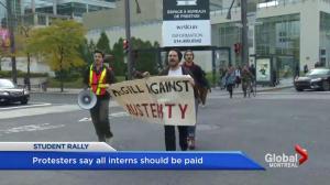 Paid internship protest