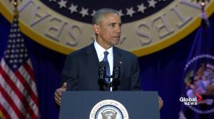 Obama gets standing ovation, crowd cheers during his final official speech as president