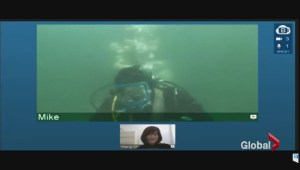 Victoria student defends thesis under water