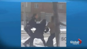 Video shows Brampton teens fighting with a police officer