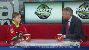 Calgary boy works as runner for Calgary Flames during 2016 NHL Draft