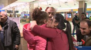 Syrian families arrive in Calgary to emotional welcome