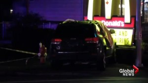 Car crashes into Surrey McDonald's golden arches after shooting