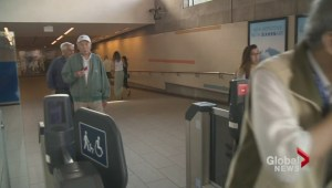 All SkyTrain station fair gates closed Monday