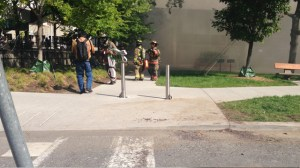 City hall evacuated as smoke pours out of building