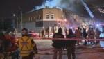Raw video: Firefighters battle blaze in LaSalle