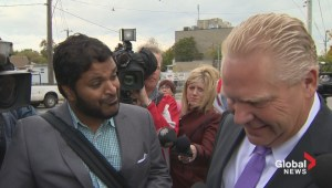 Heckler derails Doug Ford's transit press conference