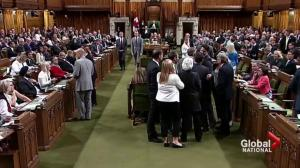 Trudeau under fire, accused of elbowing MP in House of Commons