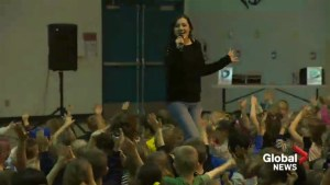 Musical anti-bullying rally stops at Lethbridge elementary school