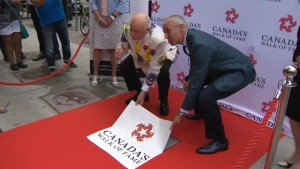 Don Cherry and Don Cherry awarded Canada's Walk of Fame star