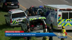 Calgary paramedic contacts taser deployed by police