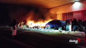 Chilliwack homeless camp goes up in flames