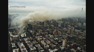 Manhattan apartment building collapses after fiery explosion