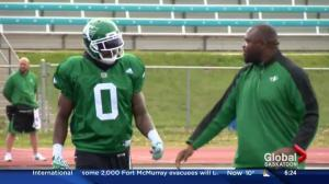 Riders defensive end Jonathan Newsome pushing for a starting role
