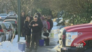 Vancouver residents battle icy conditions