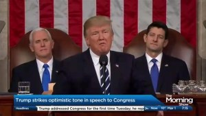 Trump's changes his tone as he addresses Congress for the first time.