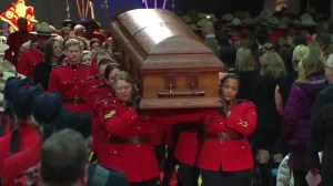 Const. David Wynn's body carried out