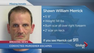 Convicted murderer Shawn Merrick escapes from Mission Institution