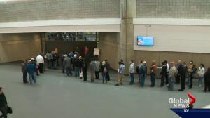 People line up in droves at Edmonton job fair