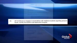 MSVU student not allowed to tell others he's suicidal per school's wellness agreement
