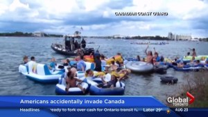 Americans accidentally invading Canada on rafts rescued by coast guard