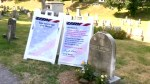 People gather at suffragist leader Susan B. Anthony grave on Election Day