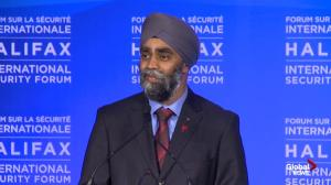 Harjit Sajjan reacts to Global News Ipsos polls on anti-ISIS airstrikes, refugee intake program