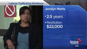 Edmonton woman sentenced in connection with labour trafficking